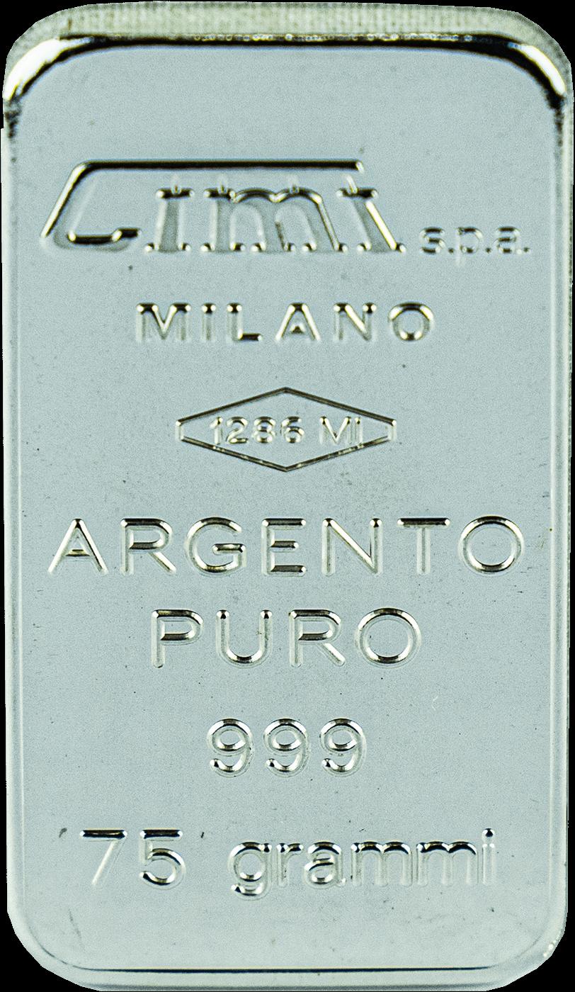 Lingotto argento 75 gr